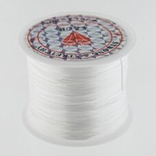 Japanese style elastic floss, white, about 10-meter/spool, 2500D
