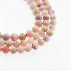 Dendritinis rožinis opalas, natūralus, B kokybė, apvali forma, 37-39 cm/gija, 8, 10 mm