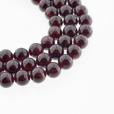 Granatas, natūralus, CC kokybė, apvali forma, tamsiai raudona spalva, 37-39 cm/gija, 4, 6, 7, 8, 9, 10, 11, 12 mm 2