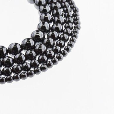 Hematite, Reconstituted, Round Bead, Black, 39-40 cm/strand, 1.5 mm