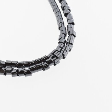 Hematite, Reconstituted, Gear Rondelle Bead, Black, 39-40 cm/strand, 5x5 mm