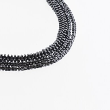 Hematite, Reconstituted, Flower Rondelle Bead, Black, 39-40 cm/strand, 3x2 mm