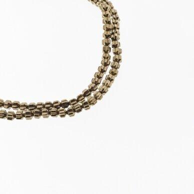 Hematite, Reconstituted, Lantern Flower Rondelle Bead, Brown, 39-40 cm/strand, 4x3 mm