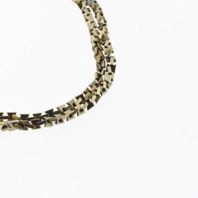 Hematite, Reconstituted, Bow Bead, Khaki Gold, 39-40 cm/strand, 3x3, 4x4 mm