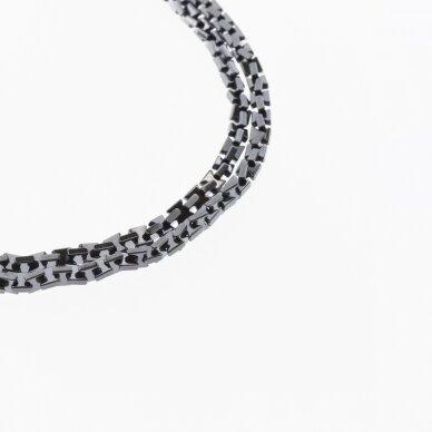 Hematite, Reconstituted, Bow Bead, Black, 39-40 cm/strand, 3x3 mm