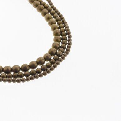 Hematite, Reconstituted, Matte Round Bead, Brown, 39-40 cm/strand, 1.5 mm