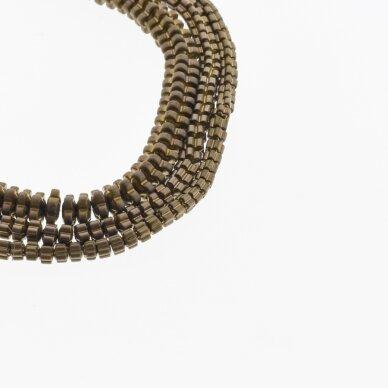 Hematite, Reconstituted, Matte Flower Rondelle Bead, Brown, 39-40 cm/strand, 3x2, 4x2, 6x2 mm