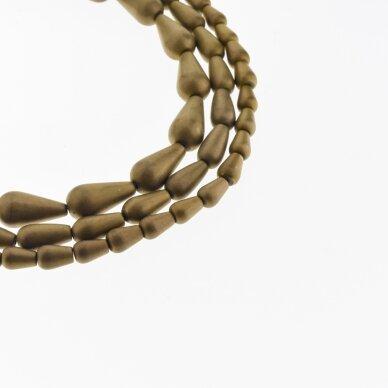 Hematite, Reconstituted, Matte Teardrop Bead, Brown, 39-40 cm/strand, 5x8, 6x9, 6x12, 8x12, 8x16 mm