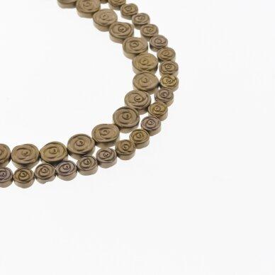 Hematite, Reconstituted, Matte Rose Bead, Brown, 39-40 cm/strand, 6 mm