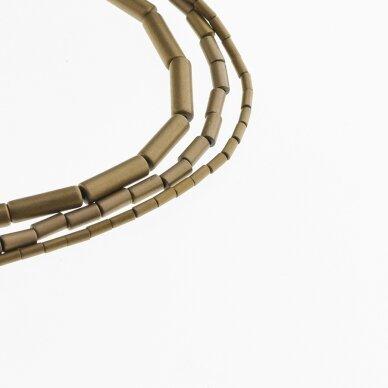 Hematite, Reconstituted, Matte Tube Bead, Brown, 39-40 cm/strand, 1x2, 1x3, 1x4, 1x6, 2x4, 3x5, 3x9, 4x6, 4x8, 6x6, 6x8 mm