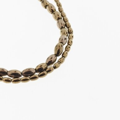 Hematite, Reconstituted, Oval Bead, Brown, 39-40 cm/strand, 3x5 mm