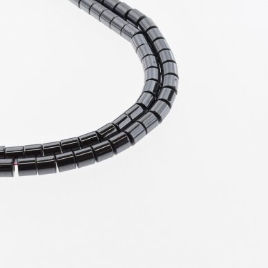 Hematitas, regeneruotas, vamzdžio forma, juoda spalva, 39-40 cm/gija, 1x2, 1x3, 1x4, 1x6, 2x4, 3x5, 3x9, 4x6, 4x8, 6x6, 6x8 mm 2