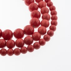 Keramika, apvali forma, #A40 raudona spalva, apie 55 vnt./gija, 6, 8, 10, 12, 14, 16, 18, 20, 28, 32, 35 mm