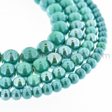 Ceramic, Round Bead, #A20 Sea Green, about 55 pcs/strand, 6, 8, 10, 12, 14, 16, 18, 20, 28, 32, 35 mm