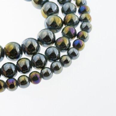 Ceramic, Round Bead, #B27 Dark Green, AB Effect, about 55 pcs/strand, 6, 8, 10, 12, 14, 16, 18, 20, 28, 32, 35 mm