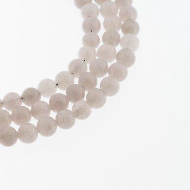 Chinese White Jade (Quartz), Natural, Dyed, Round Bead, #10 Light Brownish Grey, 37-39 cm/strand, 6, 8, 10, 12 mm