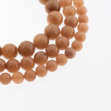 Chinese White Jade (Quartz), Natural, Dyed, Round Bead, #15 Light Brown, 37-39 cm/strand, 6, 8, 10, 12 mm