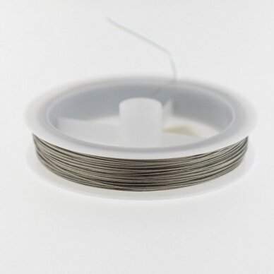 Nylon and stainless steel wire, about 25-meter/spool, 0.6 mm