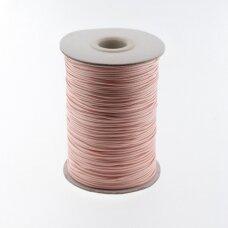 Vaškuota poliesterinė virvelė, #08 ypač šviesi rožinė spalva, apie 180 metrų/ritė, 1.0 mm