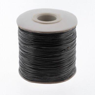 Vaškuota poliesterinė virvelė, #12 ypač tamsi ruda spalva, apie 180 metrų/ritė, 0.5 mm