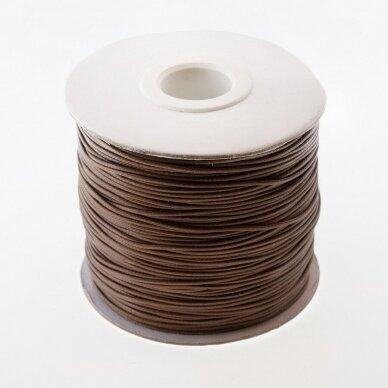Vaškuota poliesterinė virvelė, #19 ruda spalva, apie 180 metrų/ritė, 1.5 mm
