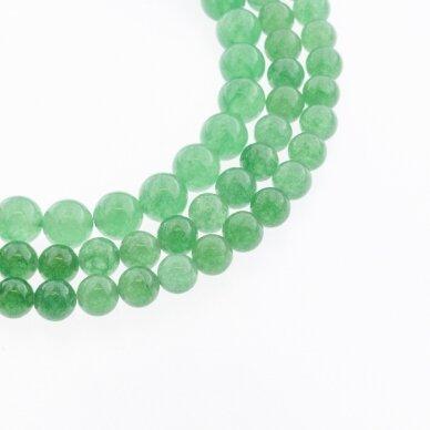 Žalias avantiurinas, natūralus, A kokybė, apvali forma, 37-39 cm/gija, 6, 8, 10, 12 mm